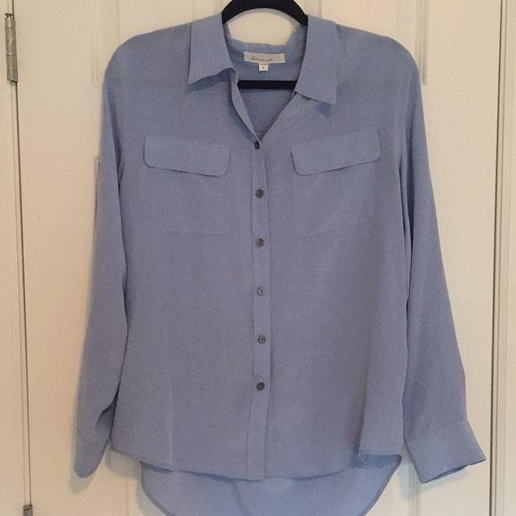 dd3ffd8ccb6113 Two by Vince Camuto silk utility blouse. M 5b856372c2e88e14eed0e2ae